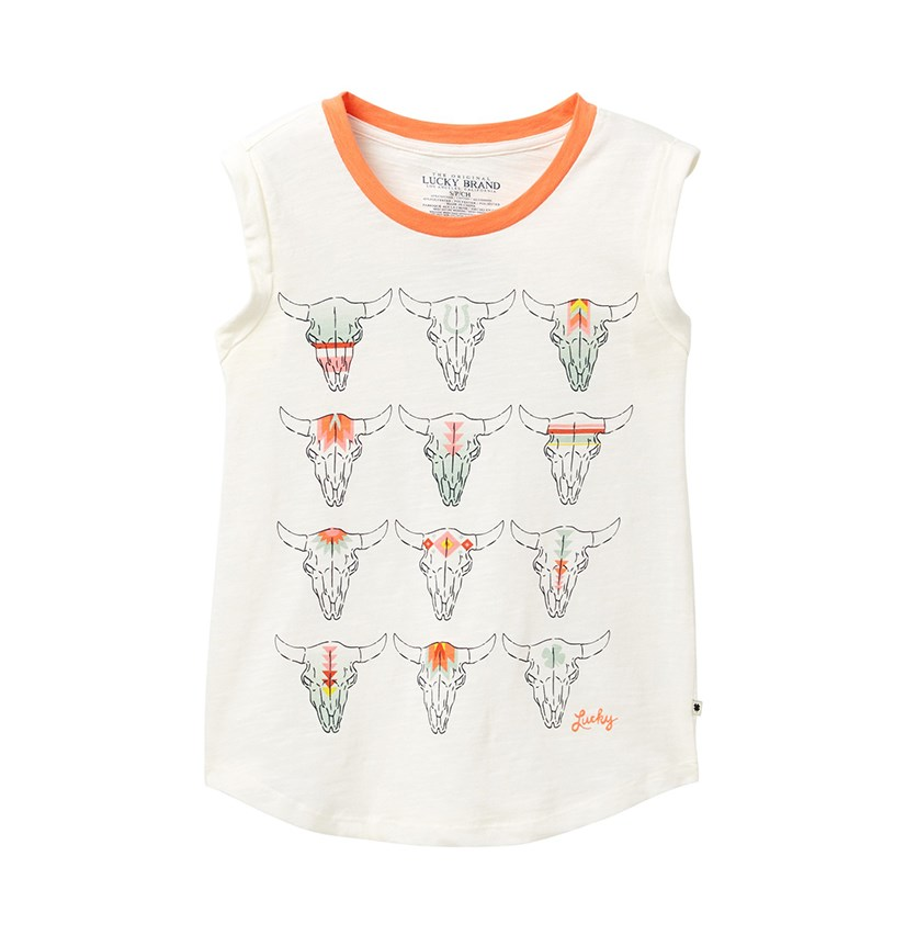 Kids Girl Zoya Tank, Whisper White