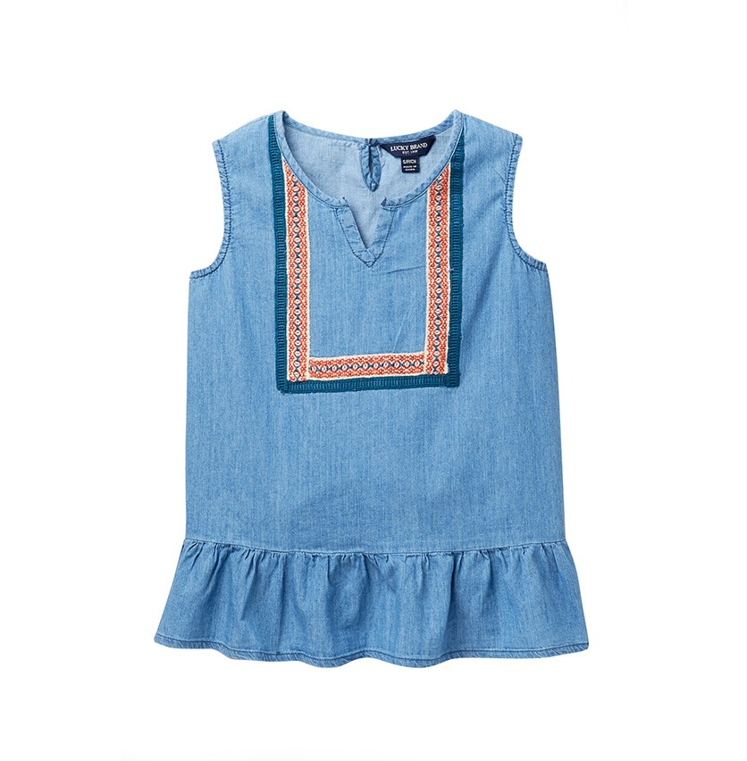 Kids Girl Lillian Top, Ryder Wash