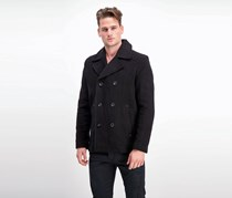 Kenneth Cole Men's Double-Breasted Pea Coat, Black