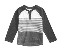 Epic Threads Little Boys White Plains Henley, Bright White/Charcoal