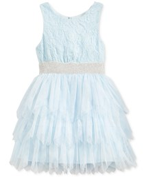 Marmellata Kids Girls Fairy Dress, Pastel Blue