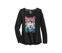 Epic Threads Stay Fierce Ombre-Print T-Shirt, Black