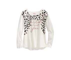 Wild About You Graphic Long-Sleeve T-Shirt, Holiday Ivory