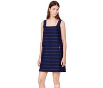 Mango Striped Strap Dress, Blue/Navy