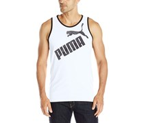 Puma Men's Tank Top, Black/White