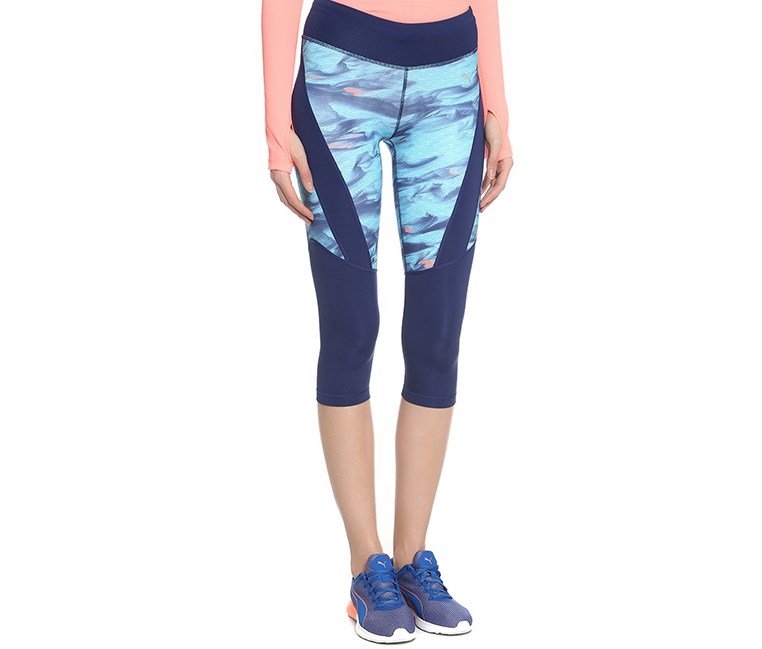 Women's Graphic 3/4 Tights, Blue