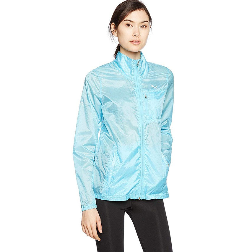 Womens Running Light Jacket, Turquoise