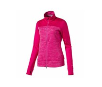 Puma Women's Colorblock Full Zip Golf Jacket, Bright Rose