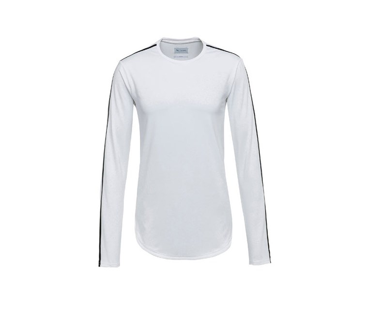 Mens Stampd Long Sleeve, White