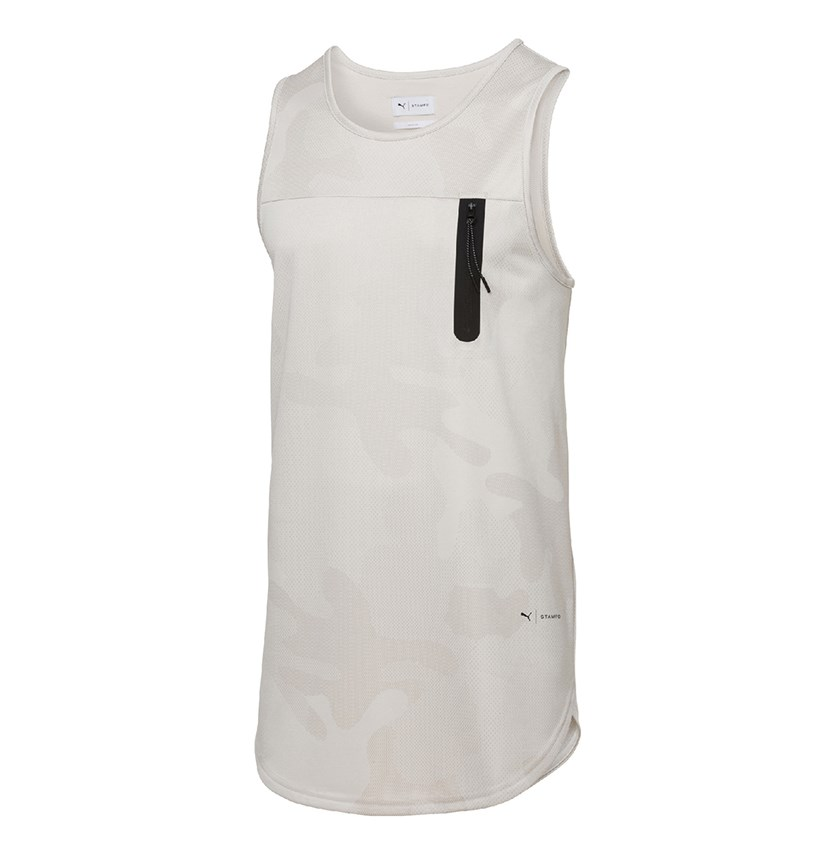 Stampd Tank Nas Sleeveless Training T-Shirts, Oatmeal