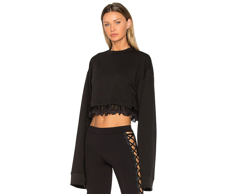 Women's Fenty Cropped Long Sleeve, Black