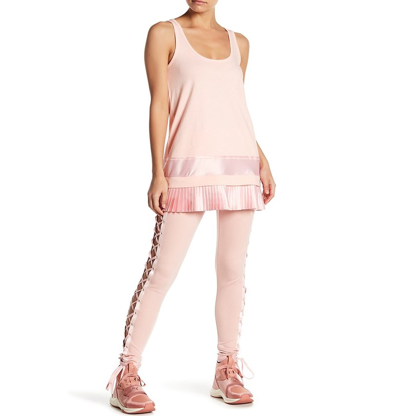 Fenty by Puma Womens Lacing Legging, Pink