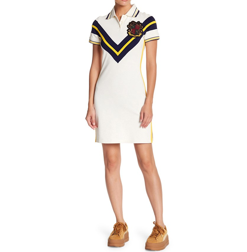 Fenty Puma by Rihanna Jersey Polo Dress, Off White Combo