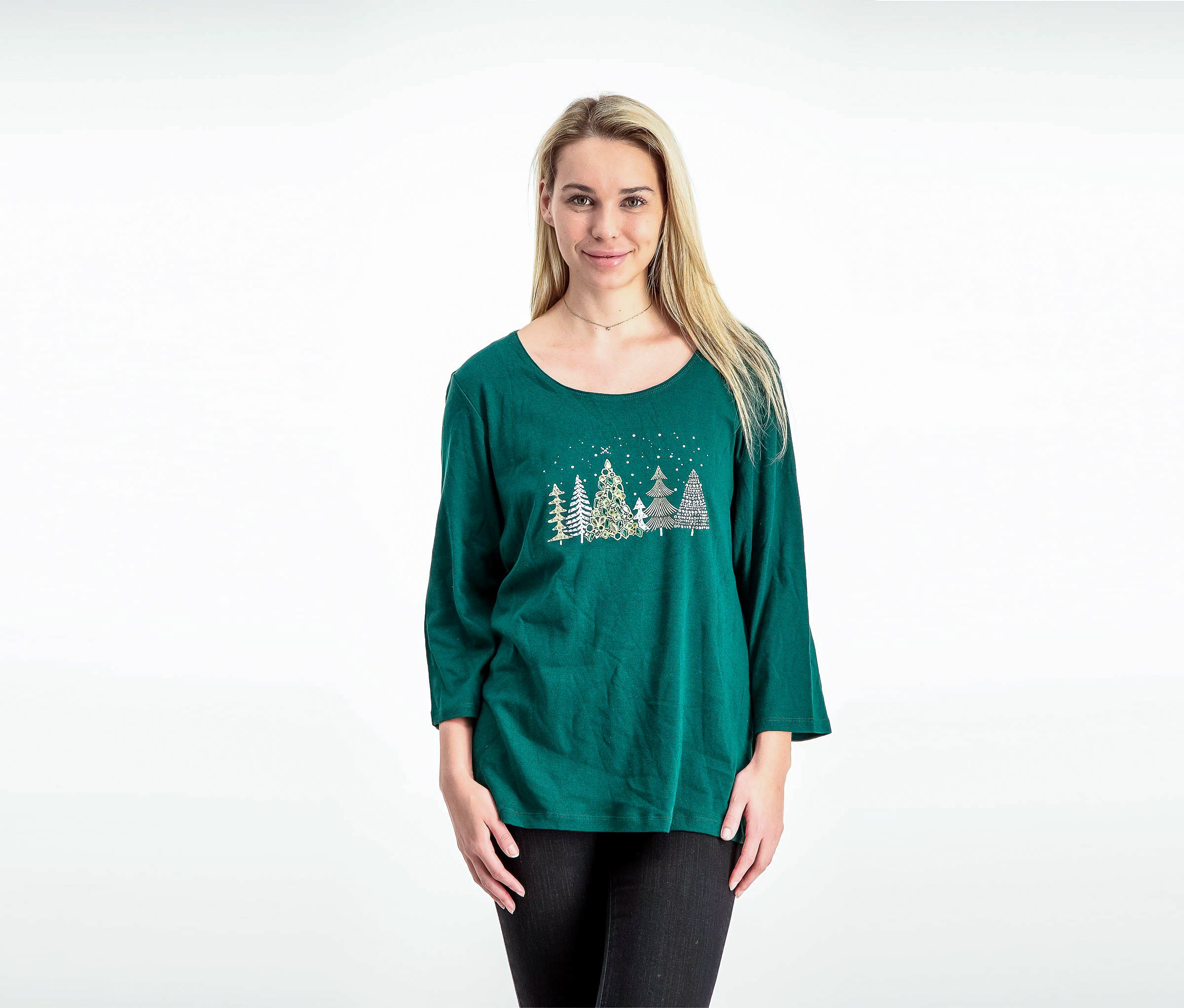 Women's Long Sleeve Sweaters, Green