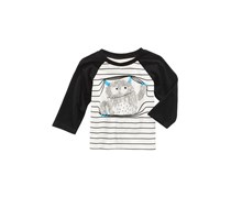 First Impressions Baby Boys Monster-Print Cotton T-Shirt, Angel White