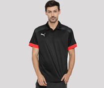 Puma Men Black Solid Polo Collar T-Shirt, Black Combo