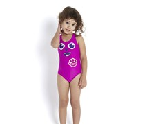 Speedo Baby Girls' Bamboo Applique Swimsuit, Purple