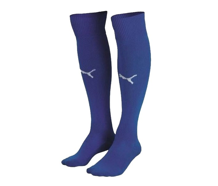 Men's Football Soccer Socks, Blue/White