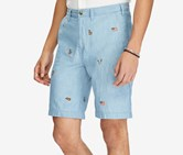 Mens Relaxed-Fit Chambray Short, Chambray