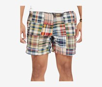 Polo Ralph Lauren Men's Plaid Classic Fit Shorts, Beige/Navy/Red
