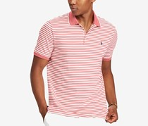 Mens Classic-Fit Soft-Touch Polo, Hyannis Red/White