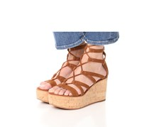 Frye Womens Heather Gladiator Wedge, Nutmeg