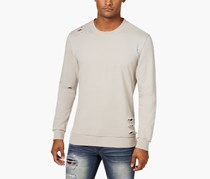 International Concepts Men's Ripped Sweatshirt, Smoked Silver