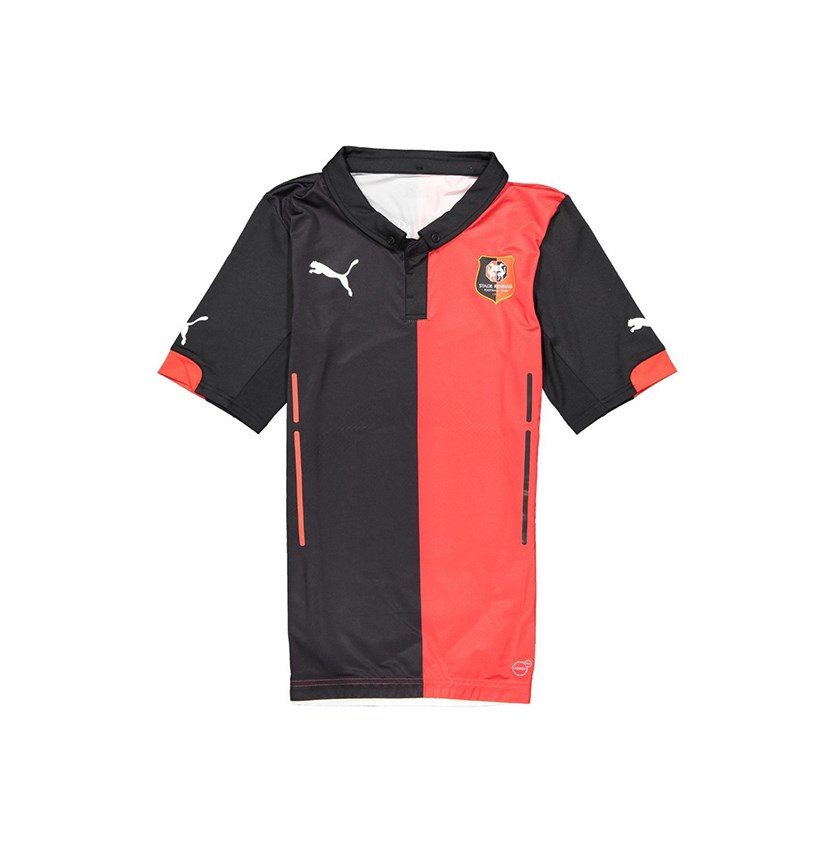 Men's Stade Rennais Football T-Shirt, Red/Black