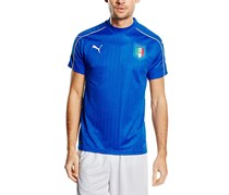 Puma Men's Figc Italy Sportwear T-Shirt, Blue/White