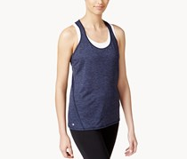Ideology Womens Heathered Racerback Tank Top, Navy
