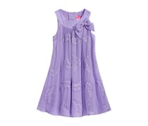 Good Lad Embroidered Butterfly Sheath Dress, Lavender