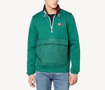 Tommy Hilfiger Windward 1/4-Zip Hooded Sweatshirt, Green