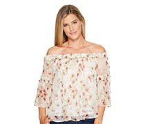 Lucky Brand Printed Off-The-Shoulder Top, Natural