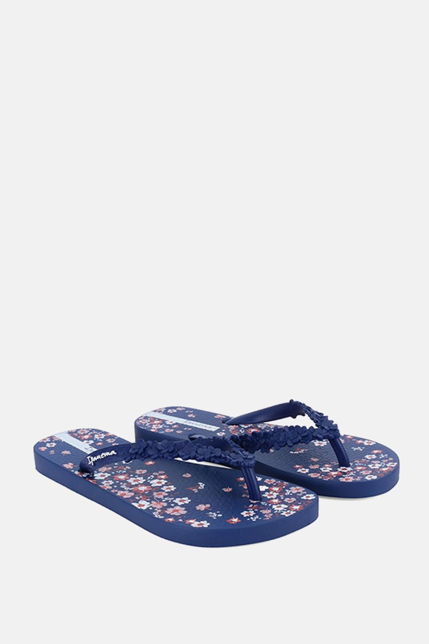 Women's  Fashion Floral Slipper, Blue