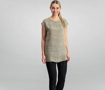 Mango Women Sleeveless Top, Dark Beige