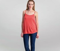 Mango Flowy Top, Coral Red