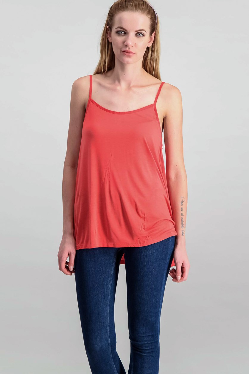 Flowy Top, Coral Red