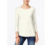 Jm Collection Womens Jacquard Top, Ivory