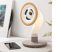 Bluetooth Speaker Gramophone, Offwhite/Taupe