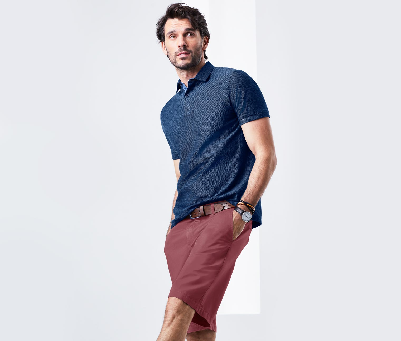 Men's Chino Shorts, Berry