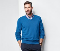 Men's V-Neck Sweater, Blue