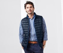 Men's Double Sided Quilted Waistcoat, Blue/Navy