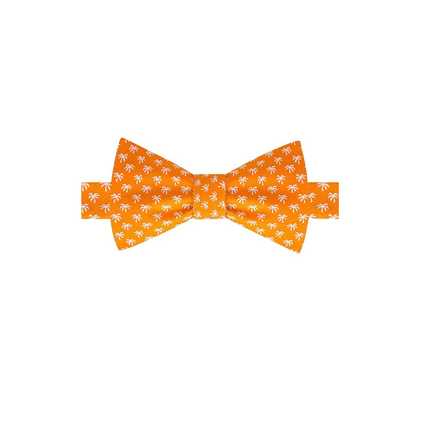 Mens Palm Tree Bow Tie, Orange