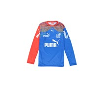 Puma Men's Wellinton 15 Long Sleeves Shirt, Blue/Red