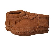 Minnetonka Unisex Infant Riley Bootie, Brown