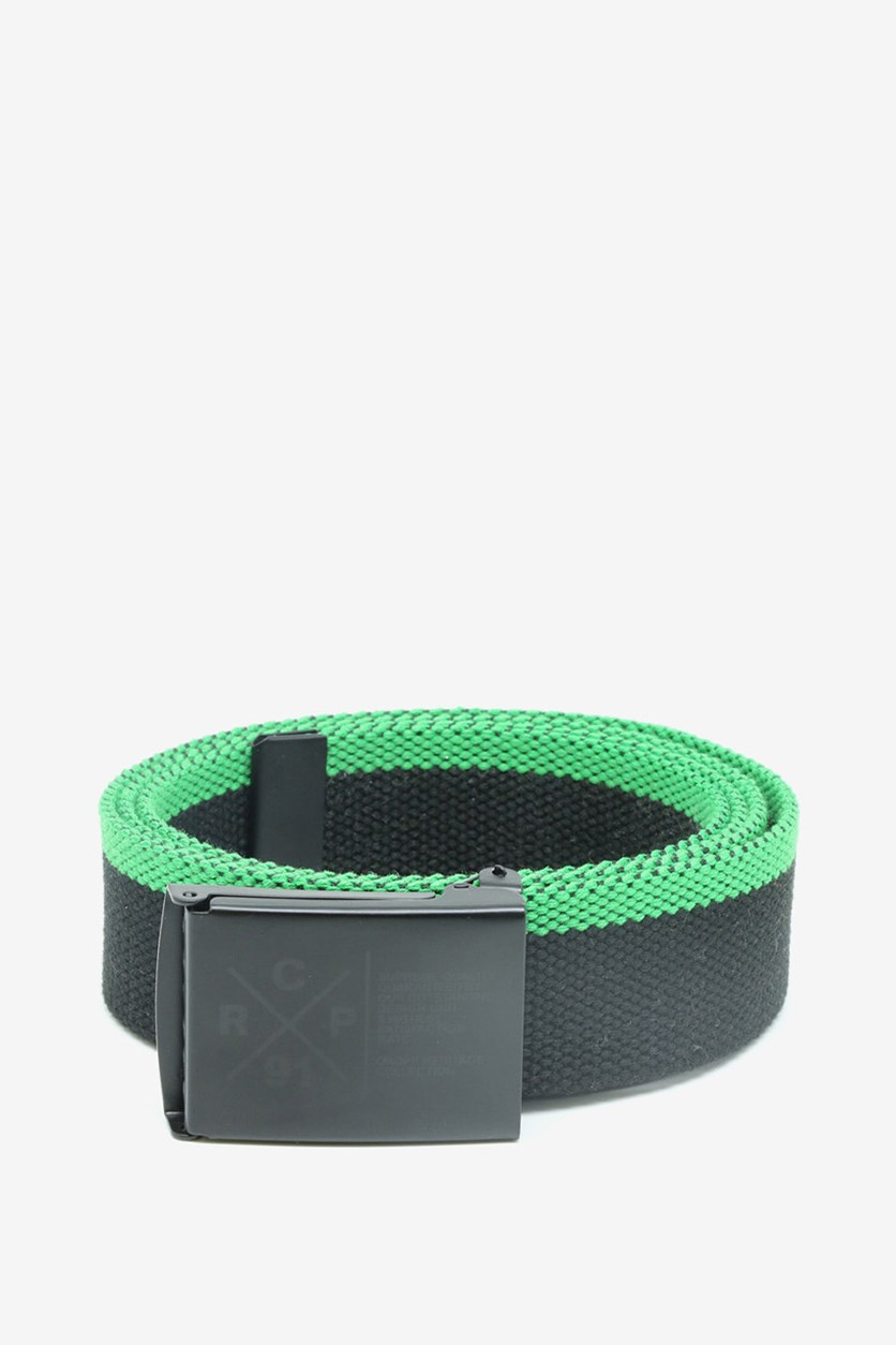 Men's Belt, Black/Green