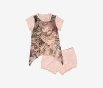 Guess Little Girls Top and Bloomer Set, Blush