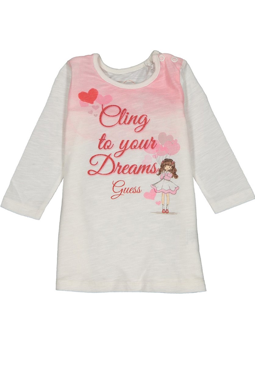 1d0483df6fb Guess Baby Girl Graphic Sweater, Off White Combo
