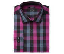 Alfani Men's Classic Fit Mega Gingham Dress Shirt, Boldberry