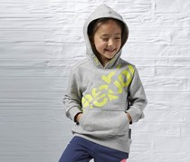 Reebok Kid's Girl Hoodie Sweaters, Grey